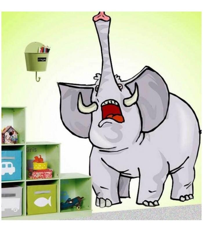 sticker éléphant trompe