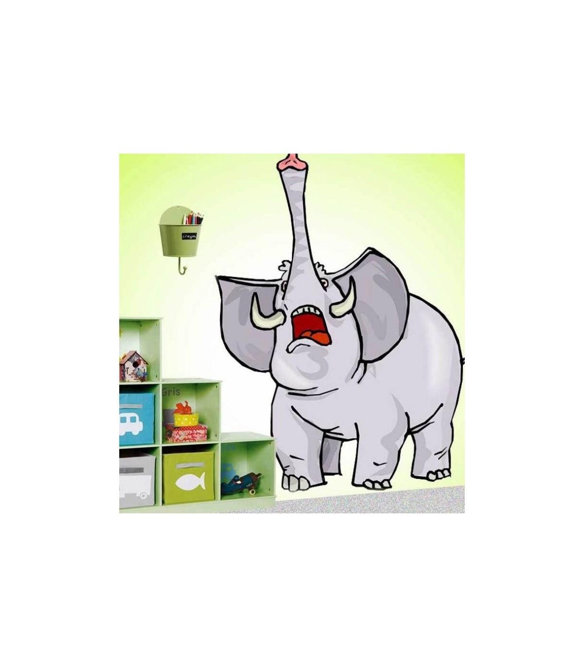 Sticker elephant trompe