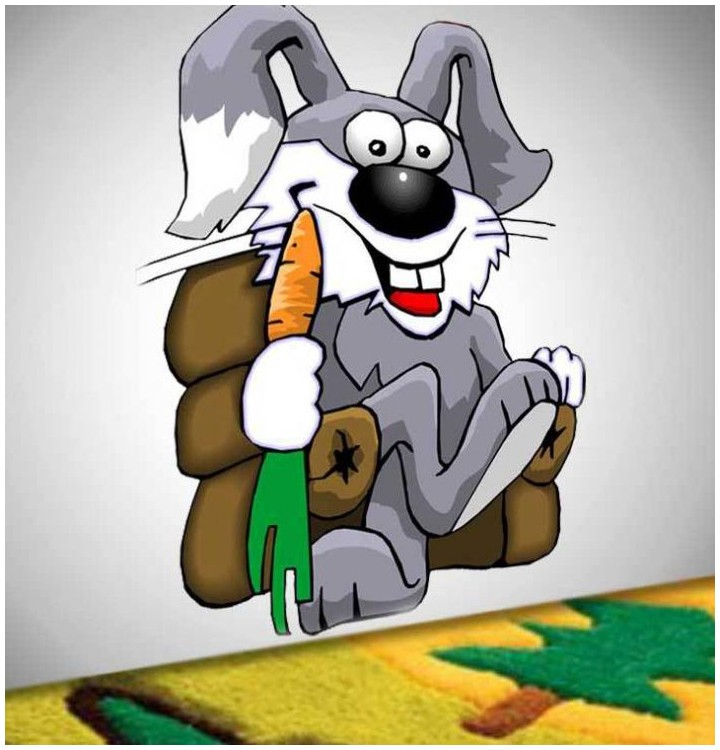 Sticker lapin et carotte