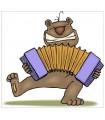 Sticker animal et accordeon