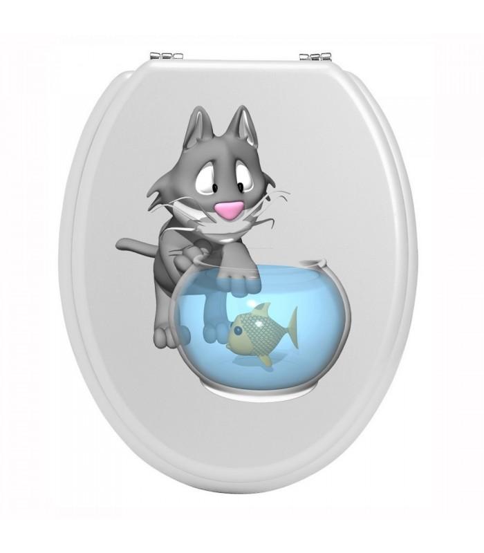 Sticker toilettes chat