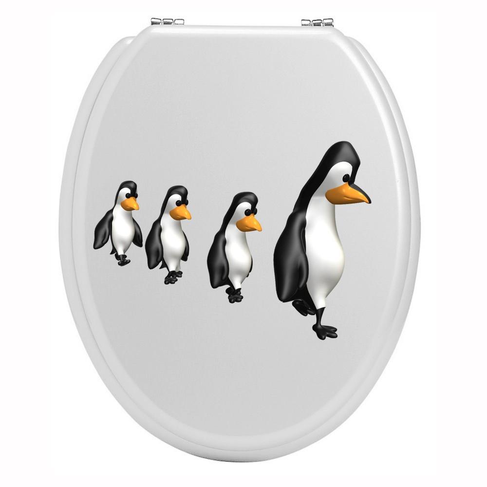 sticker wc avec pingouins d coration abattant wc stickers pour maison. Black Bedroom Furniture Sets. Home Design Ideas