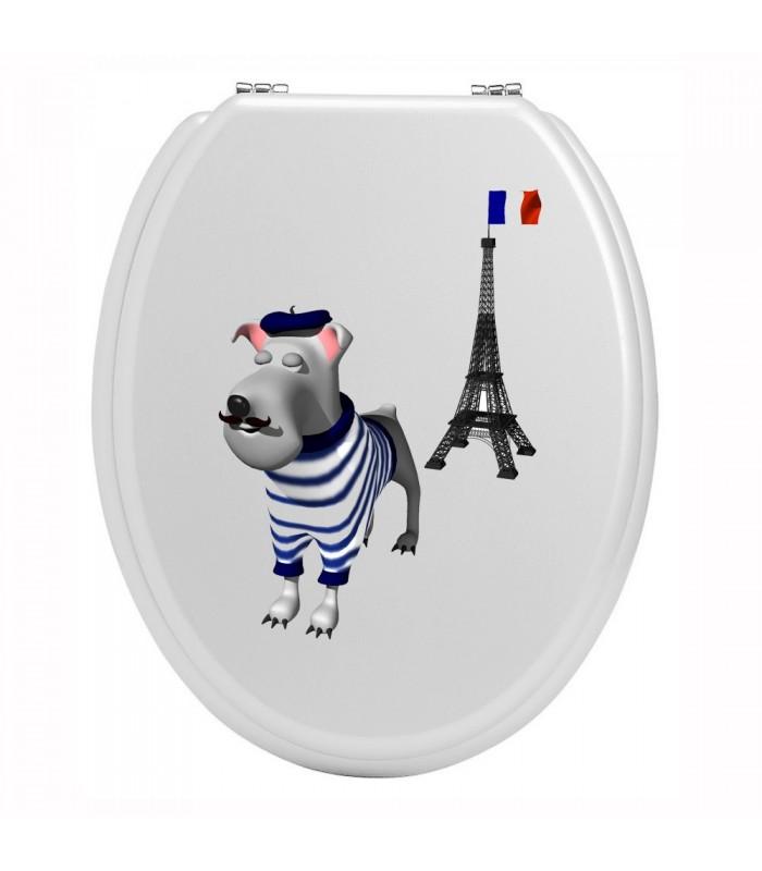 Sticker toilettes paris tour eiffel