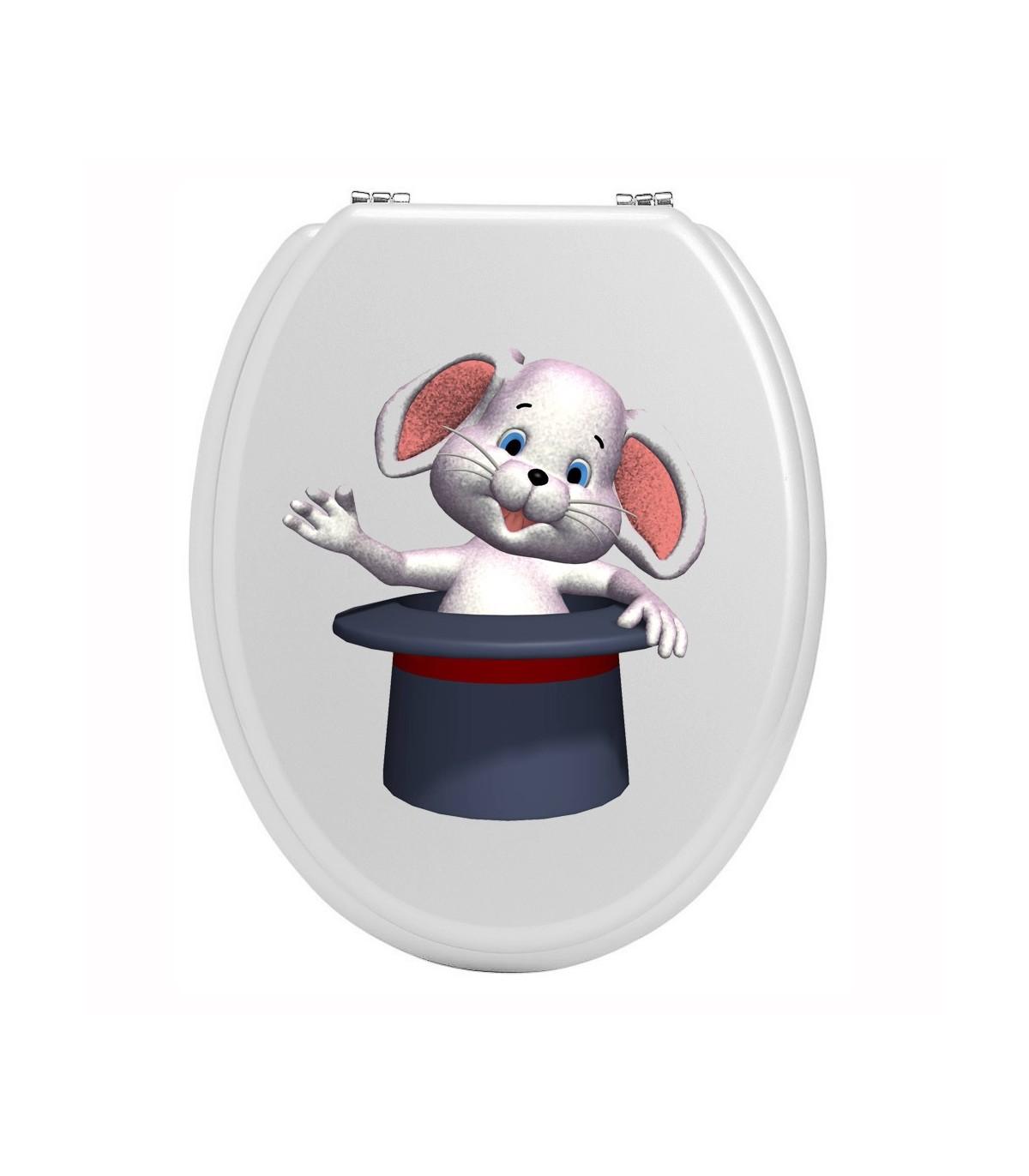 Stickers toilettes animal et chapeau