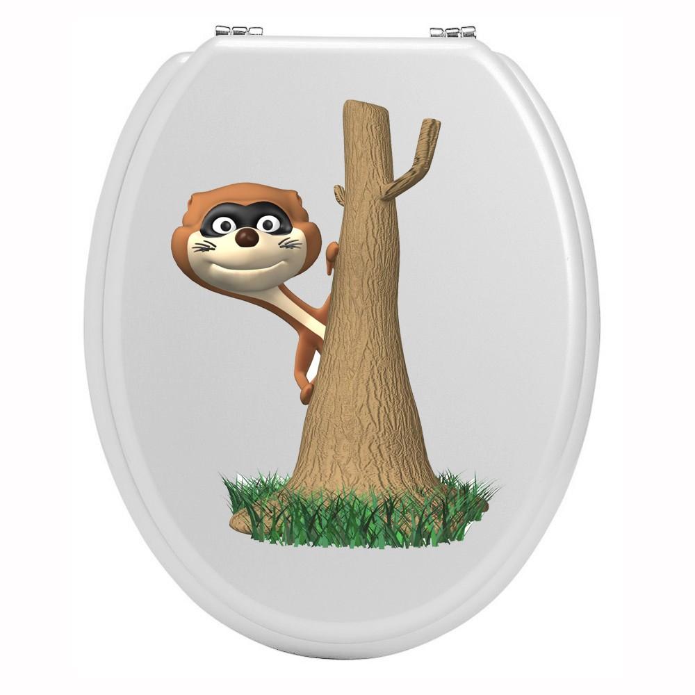 Stickers toilettes animal et arbre