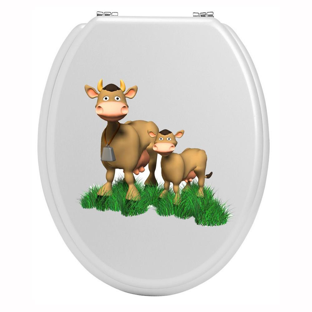 sticker wc original et pas cher quelques vaches sur sticker pour wc. Black Bedroom Furniture Sets. Home Design Ideas
