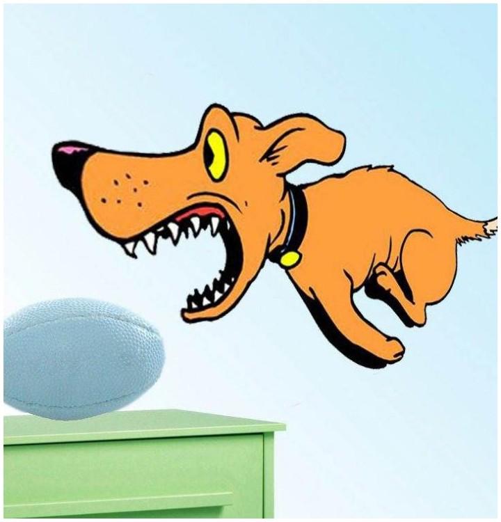 Sticker chien qui coure vite