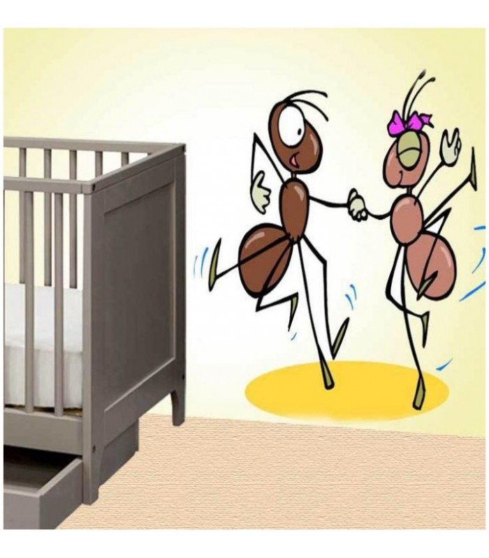 sticker fourmis qui dansent