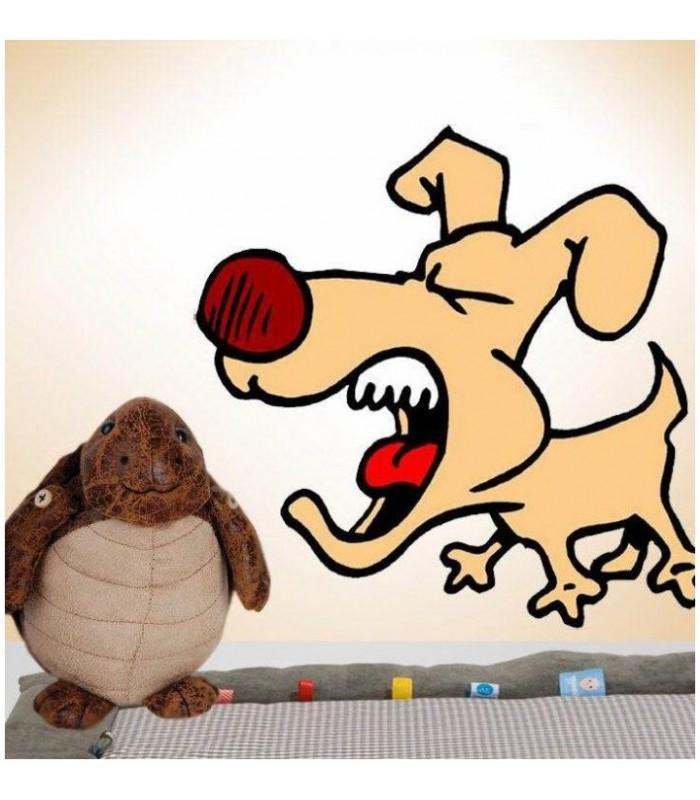Sticker chien qui aboie
