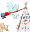 Sticker insecte libellule