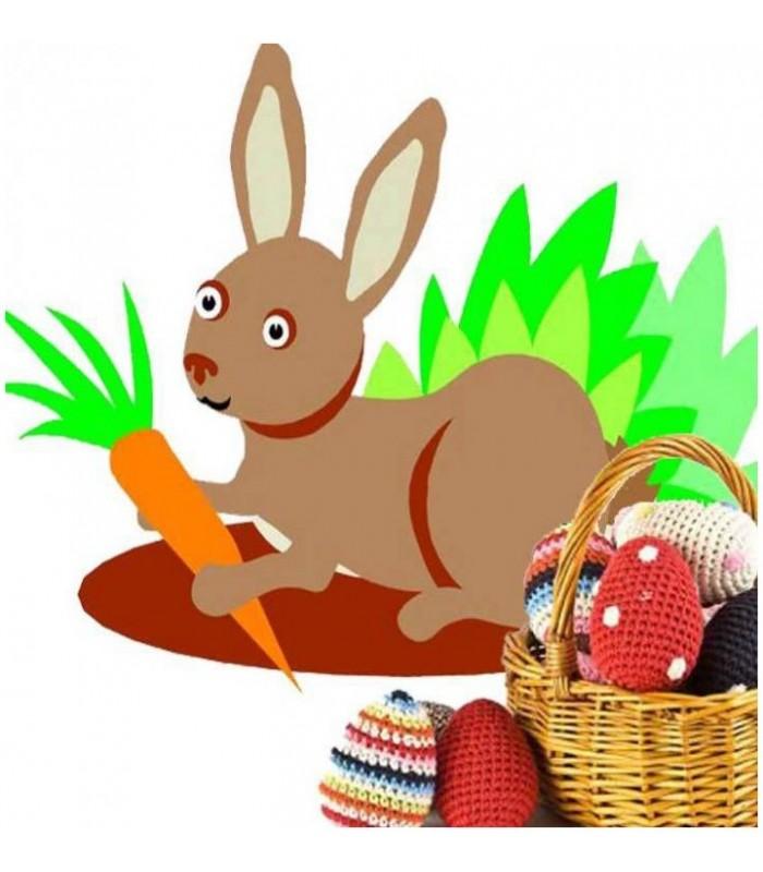 sticker lapin et sa carotte