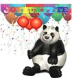 sticker panda ballons