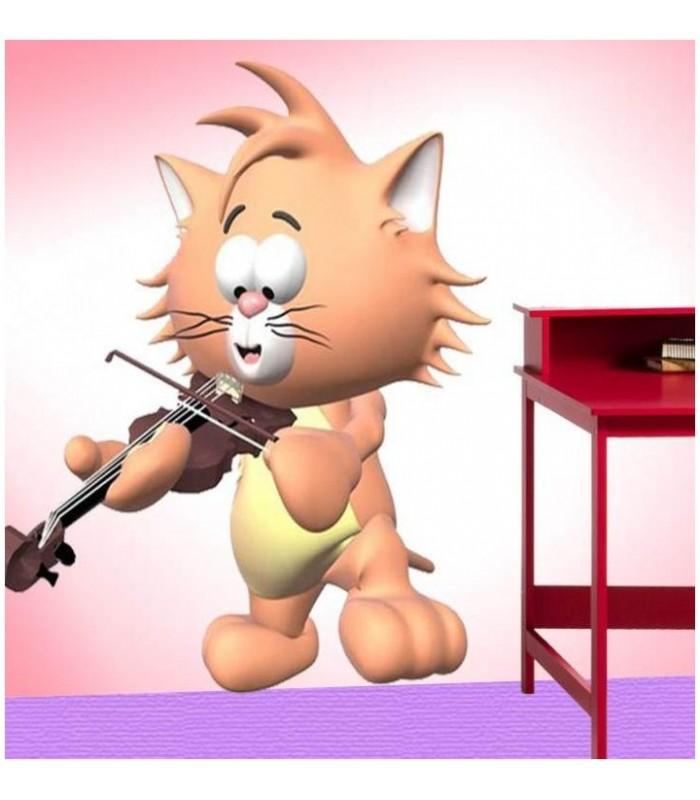 Sticker chat et violon