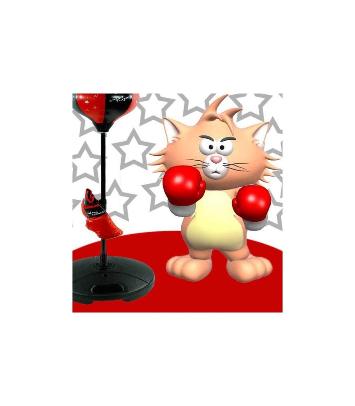 Sticker chat boxeur
