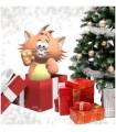 Sticker chat boite cadeau