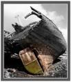 Photo coque vieux bateau