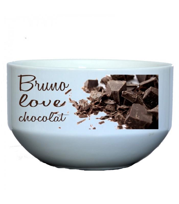 Bol amoureux du chocolat