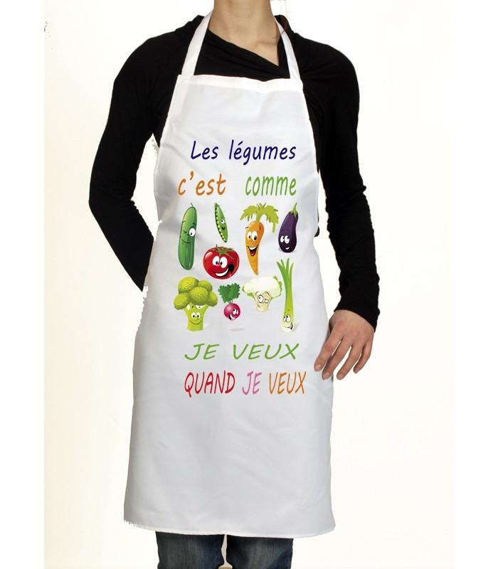 Tablier de cuisine les légumes