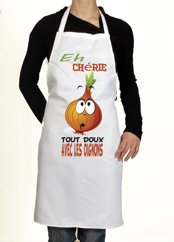 Tablier de cuisine amusant avec des oignons un cadeau - Tablier cuisine rigolo ...