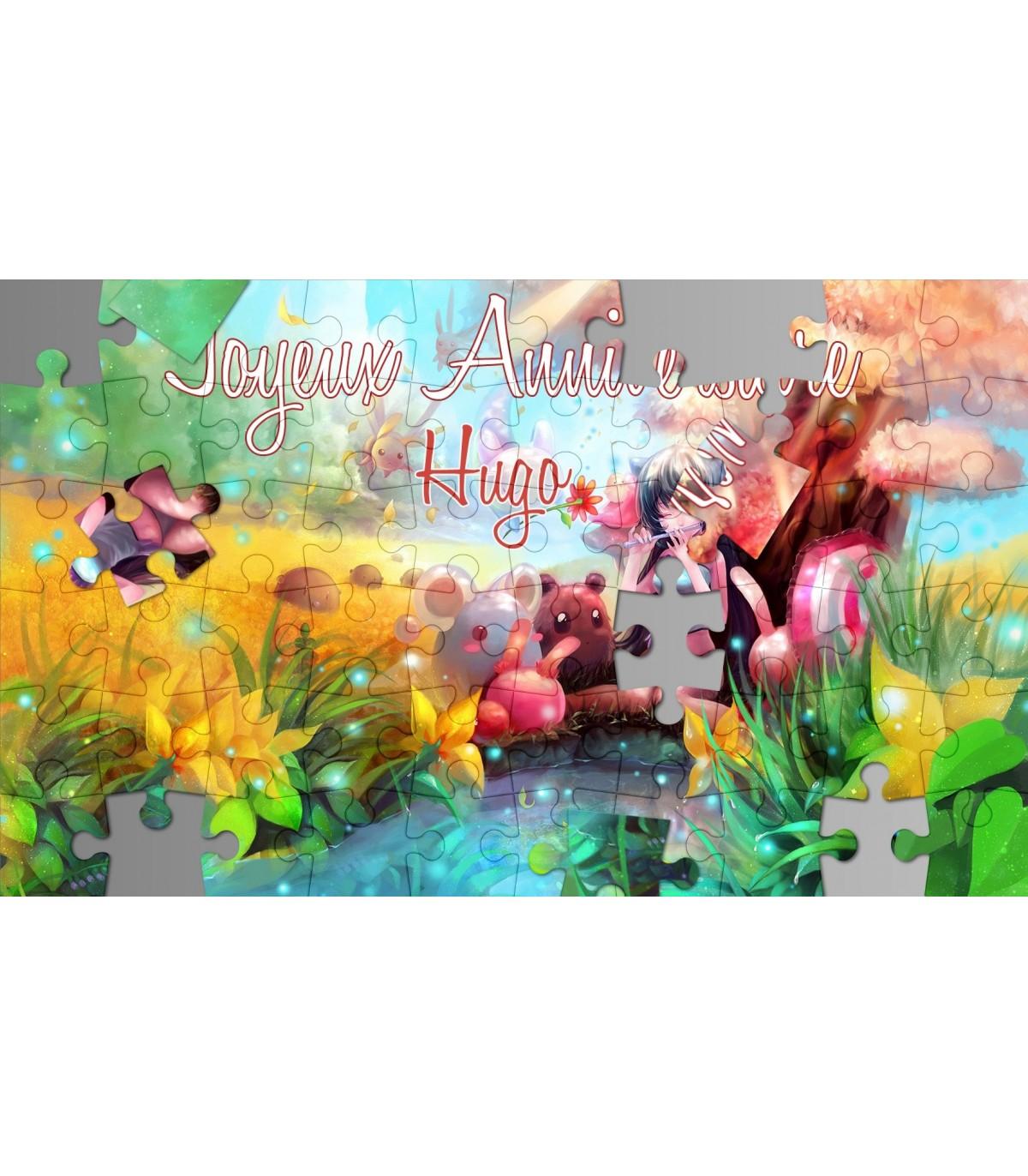 Carte Puzzle Anniversaire Carte Postale Personnalisee Pour