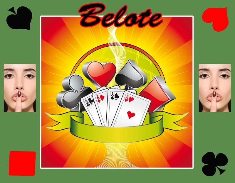Le tapis de jeu belote personnalisé