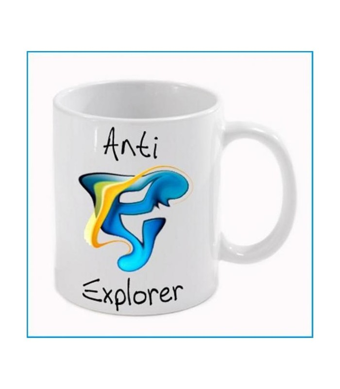 Mug personnalisé par notre enseigne avec explorer
