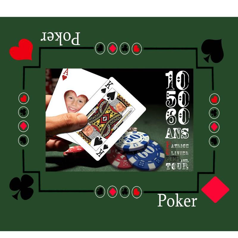 tapis de jeu photo personnalis pour jouer au poker id e cadeau homme. Black Bedroom Furniture Sets. Home Design Ideas