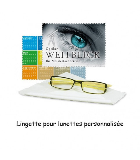 Lingette lunettes personnalisée