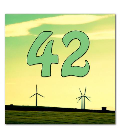 Plaque de maison personnalisable avec numéro