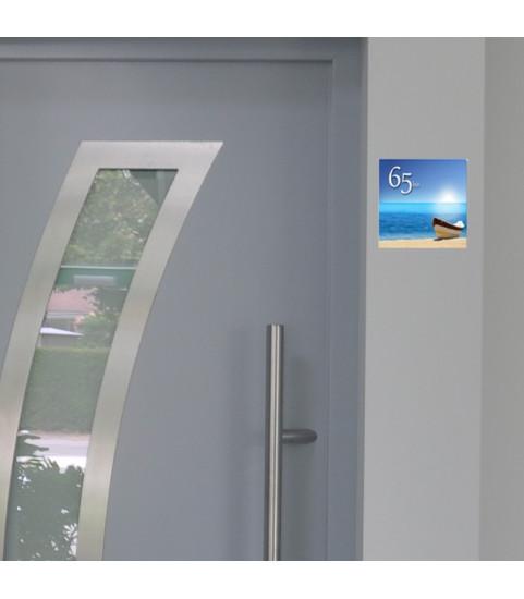 Plaque de maison avec numéro avec photo