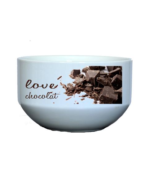 bol personnalisé pour boire un chocolat