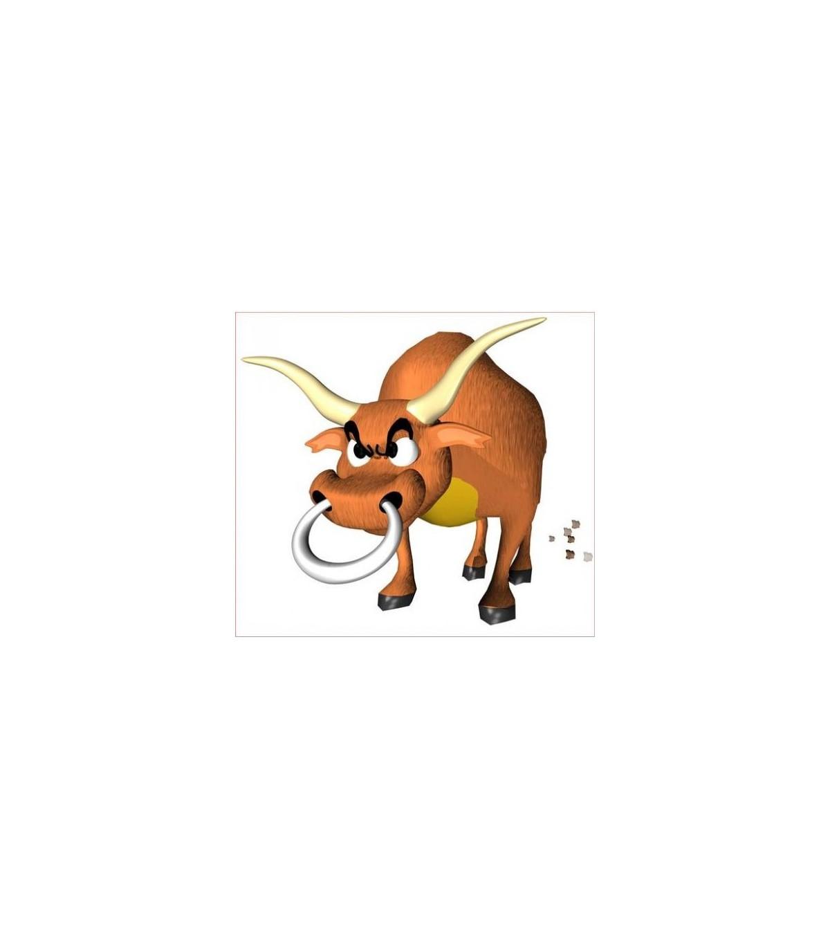 Sticker taureau furieux