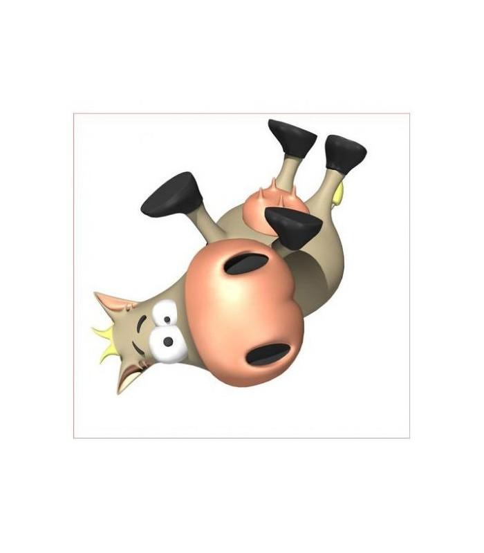 sticker vache sur le dos