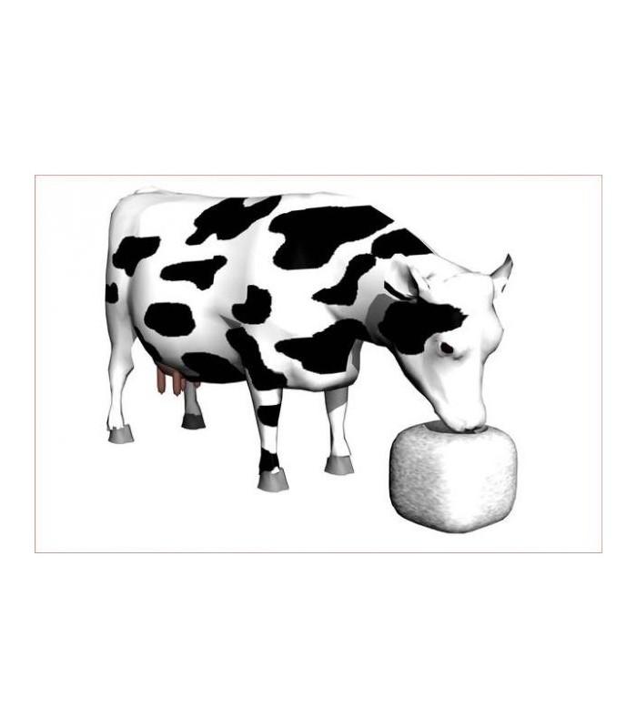 Sticker vache qui boit