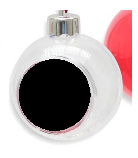 Boule de noel avec photo personnalisée