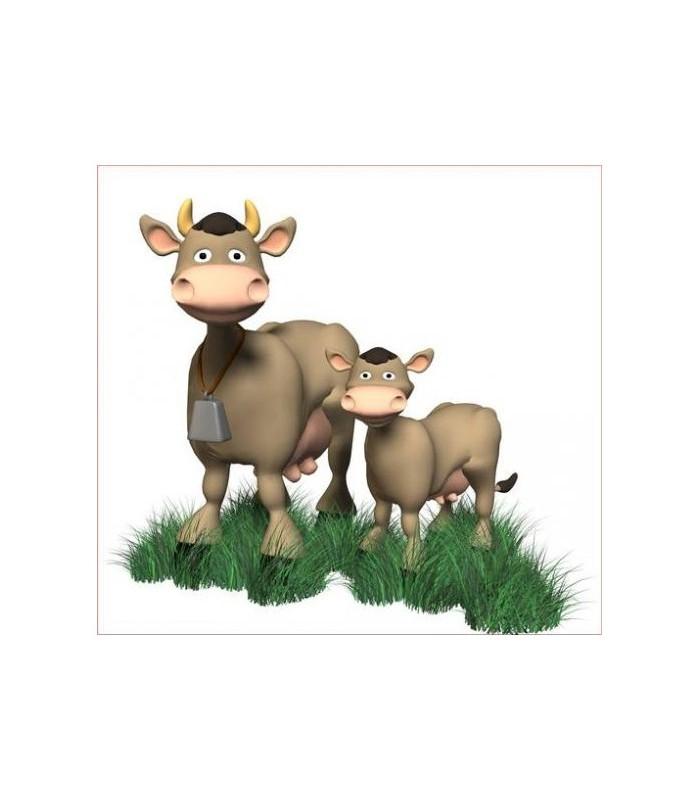 sticker vache et veau