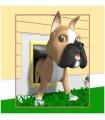 sticker chien boxeur