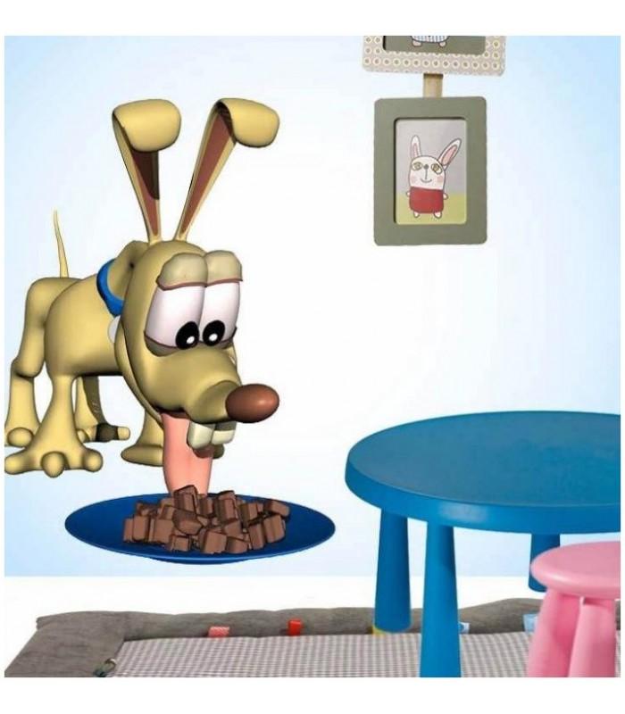 Sticker chien qui mange