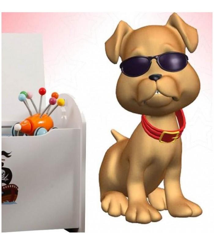 Sticker chien a lunettes