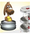Sticker chien qui se lave