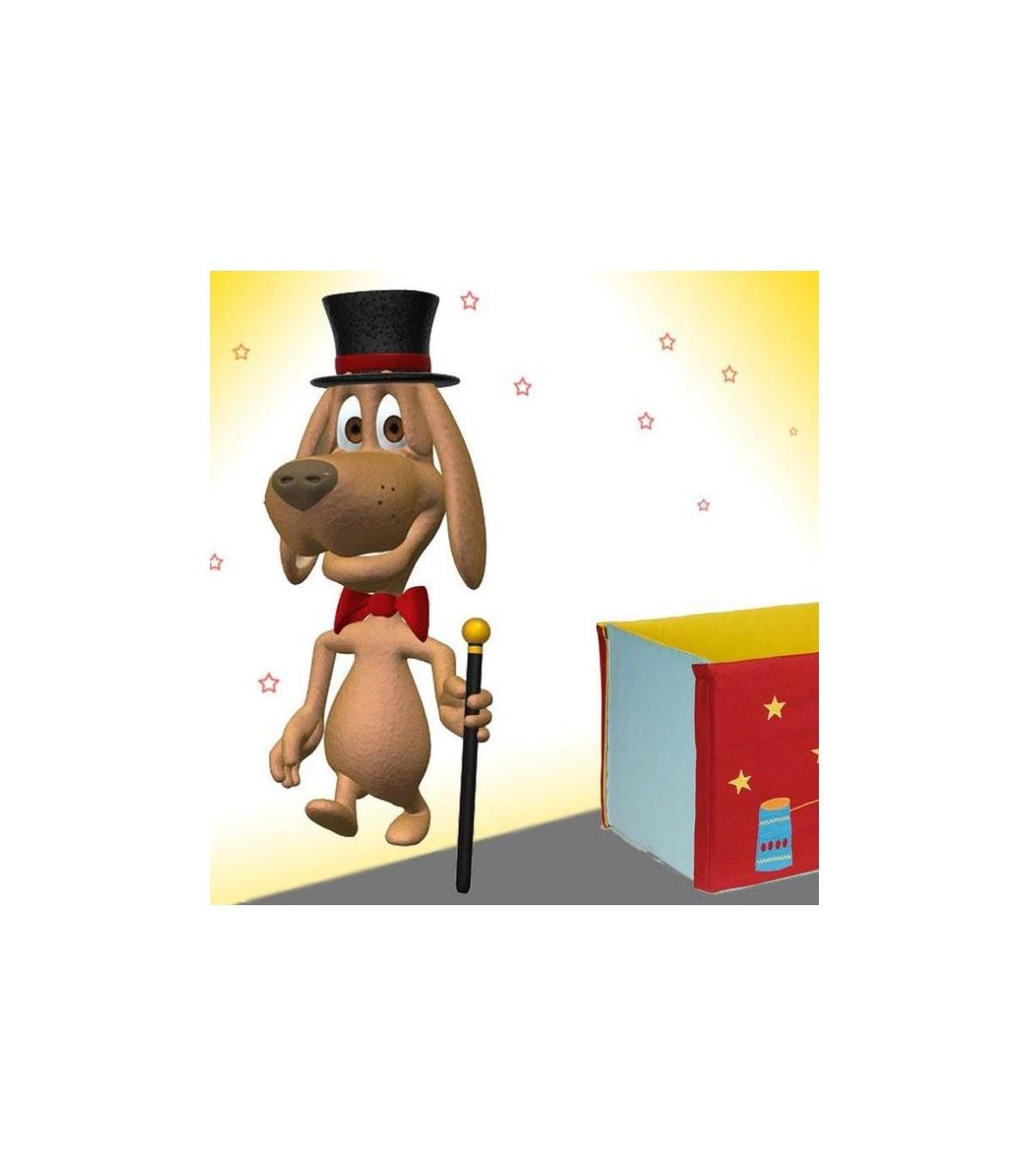 Sticker chien magicien