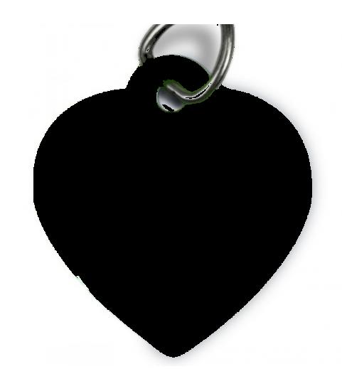 Medaille chien personnalisée coeur