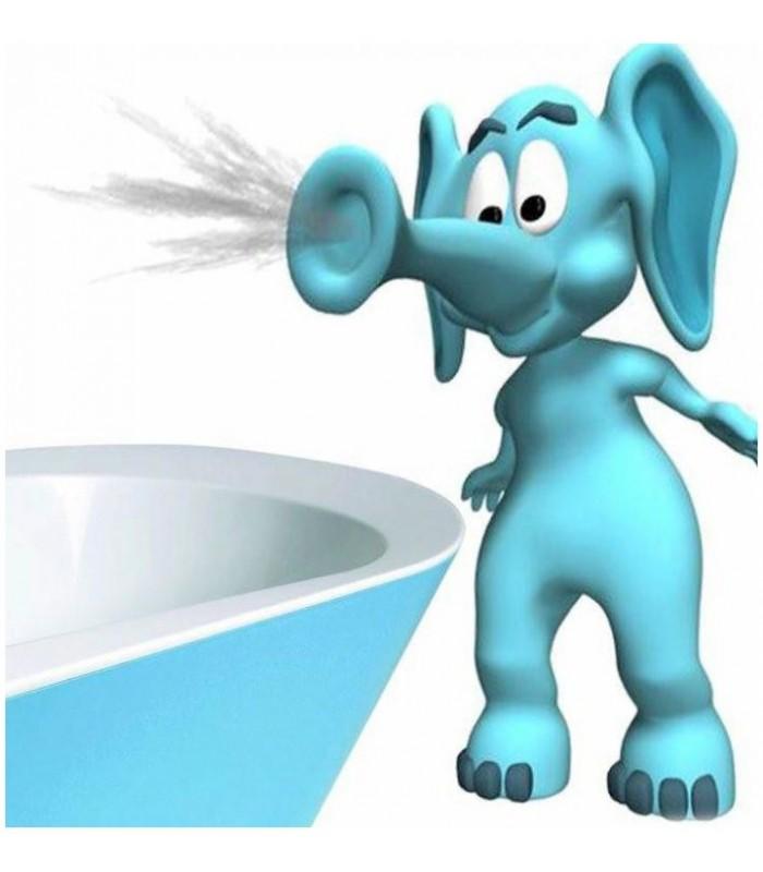Sticker elephant lancant eau