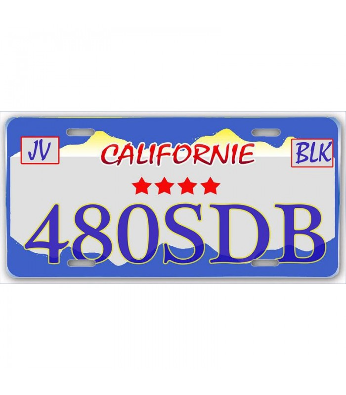 Plaque US Californie personnalisée