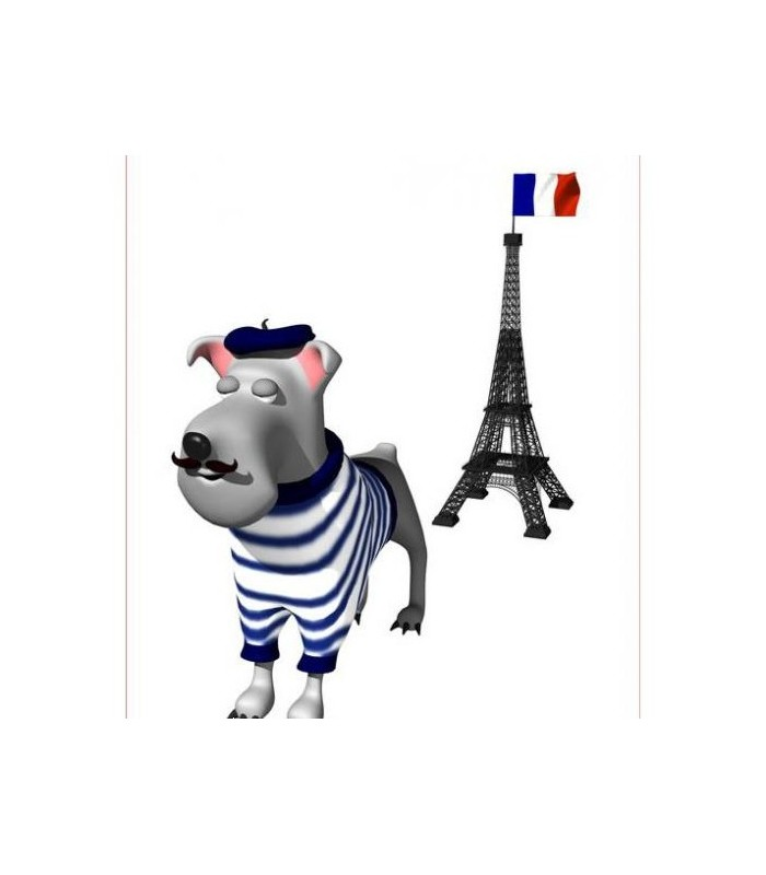 Sticker chien parisien