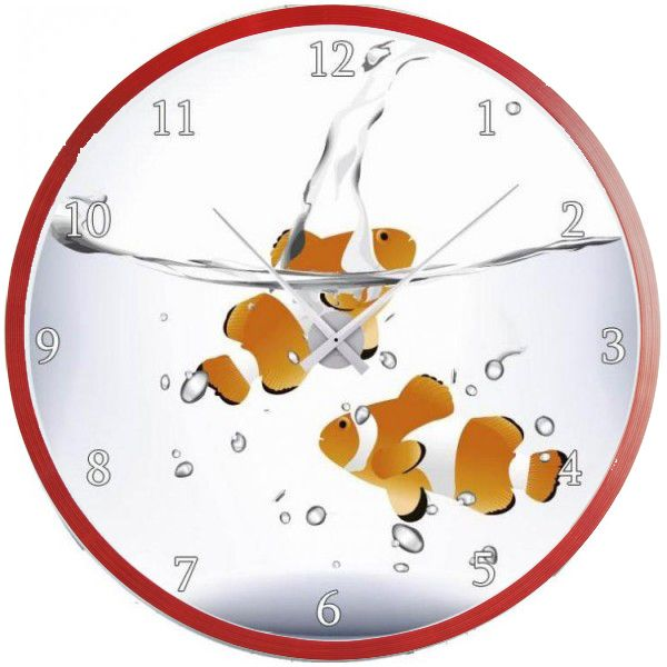 horloge originale bocal poissons cadeau personnalise partir d 39 une horloge. Black Bedroom Furniture Sets. Home Design Ideas