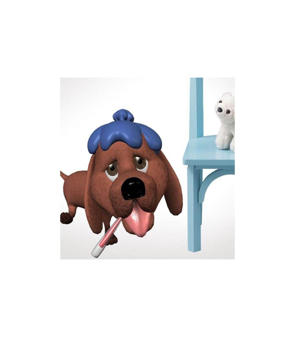 Sticker chien malade