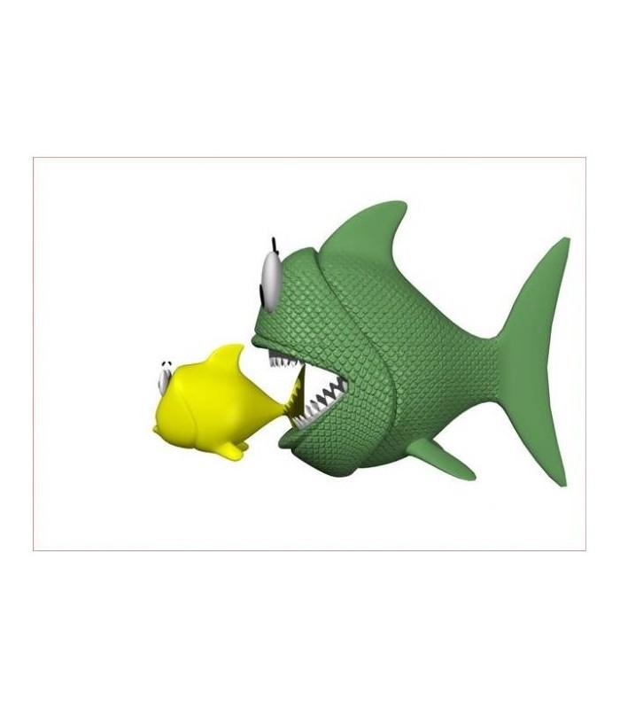 sticker poisson qui mange