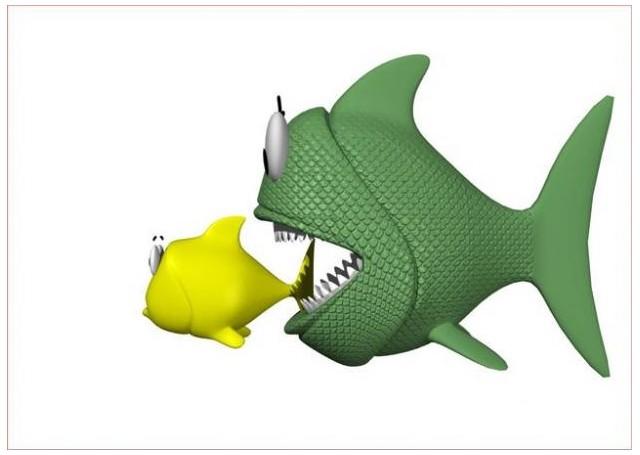Sticker poisson mangeant