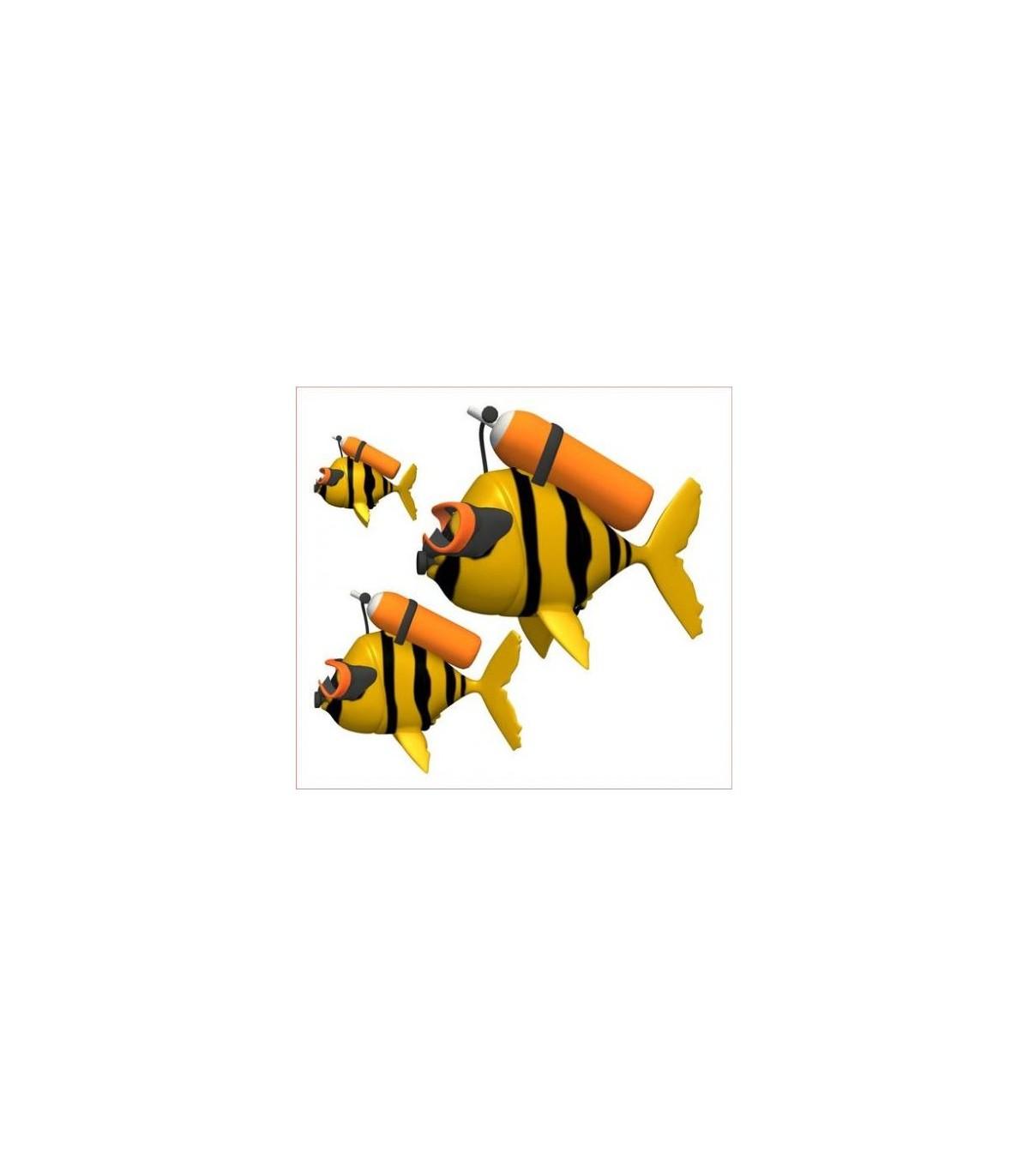 Sticker poisson homme grenouille